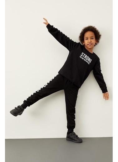 DeFacto Erkek Çocuk Baskılı Jogger Eşofman Altı Siyah